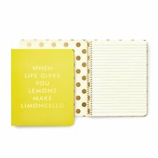 Kate Spade - Concealed Spiral Notebook - When Life Gives You Lemons