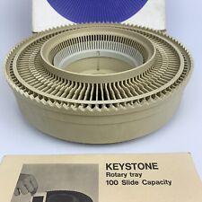 VTG Vintage Keystone Rotary Slide Tray 100 Capacity