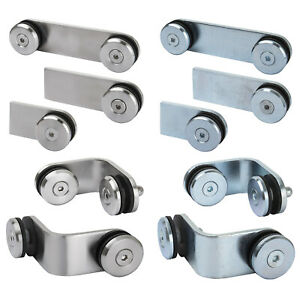 Weld on Glass Clamp Stainless Mild Steel Fixing Panel Balustrade Handrail 8-12mm