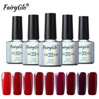 FairyGlo UV LED Gel Nail Polish Lacquer Manicure Soak Off Wine Red Colour Series