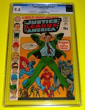 1969 JUSTICE LEAGUE OF AMERICA #77 CGC 9.6 White NM+ Joker Snapper Carr Betrays!