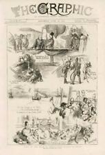 1873-Antiguo Persia Irán Shah Ostend Dover de impresión vivos Barco Marineros (040)