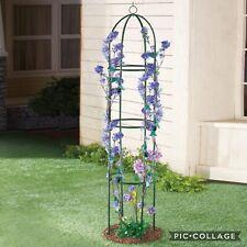 "75"" Iron Garden Metal Trellis Climbing Vines Plants Flowers Vegetables Support"