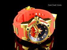 Invicta Marvel Captain Marvel Women's Quartz Bright Red Silicone Strap Watch