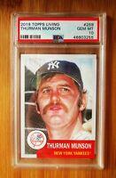 2019 Topps Living #259 THURMAN MUNSON New York Yankees PSA 10 GEM MINT