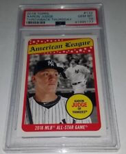2018 Topps TBT #132 Aaron Judge 1969 All Star Design Card Graded PSA 10 Mint