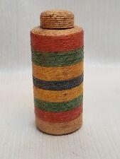 Antique Jute/ Twine/ Wicker Wrapped Bottle