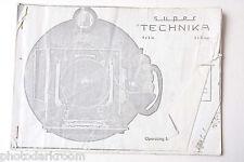 Super Technika 4x5 9x12 COPY Instruction Manual Book - English - USED COPY B32