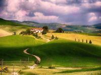 Photography Landscape Tuscany Country House Italy Canvas Art Print