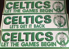 Lot of 3 Vintage Boston Celtics Bumper Sticker Stickers New Old Stock Basketball