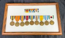 WWII To Cold War Framed Commemorative Medals & Ribbons
