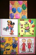 Serviettentechnik, 5 Servietten, Kinder, Luftballon, Micky Mouse, Disney, 33x33
