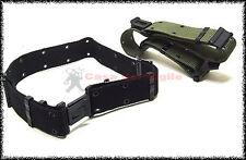 Cinturone da tuta operativa mimetica in tela con fori VERDE MIMETICO NERO
