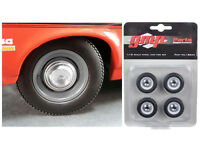 1970 Yenko Nova Dog Dish Wheel and Tire Set of Four 1:18 Diecast - 18832