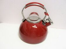 KitchenAid 2 Qt Whistling Tea Kettle With Lid Enamel Red