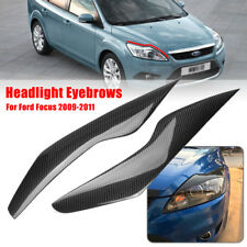 Car Carbon Fiber Front Headlight Eyebrows Eyelids Cover For Ford Focus 2009-2011