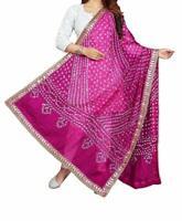 Women's Bandhani Tradtional Scarf Dupatta For Art Silk Dupatta Scarves Wrap