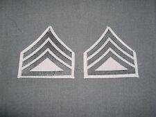 WW2 USMC Staff Sergeant chevron pair bevo green on khaki