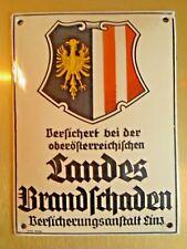 Antikes Emailleschild  Reklame Österreich 1950 Emailschild 50er original Werbung