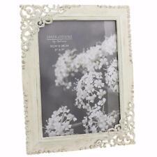 Vintage Style Ornate Cream Metal Photo Frame New Boxed 5 x 7 FS18557