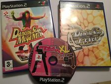 3 x PAL PLAYSTATION 2 PS2 GAMES DANCING STAGE MegaMix +STAGE FEVER +DANCE UK XL