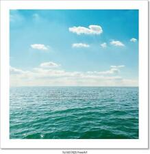 Sea Close Up Under Clouds On Sky Art/Canvas Print. Poster, Wall Art, Home Decor