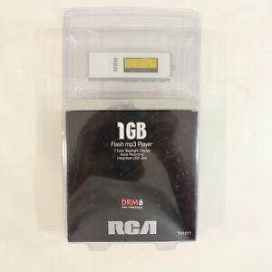 New in Box  RCA 1GB Flash MP3 Player Voice Rec TH1011 White