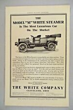 "Model ""M"" White Steamer Car PRINT AD - 1909 ~~ auto, automobile, Cleveland, OH"