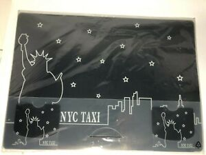 New STUDIO NOVA Placemats Taxi Cab New York City NYC Set of 4 in Package
