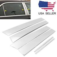 For 2011-2021 Chrysler 300 300C 6PC Stainless Steel Chrome Window Pillar Post