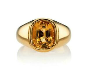 Panuchdhatu Astrological Rashi Ratan Yellow Sapphire  Pukhraj Ring Size 8.5