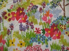 New ListingPottery Barn Woodland Paint By #s Organic Cotton Floral F/Q Duvet Cover & 1 Sham