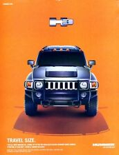 2005 2006 Hummer H3 Travel Size Original Advertisement Print Art Car Ad J964