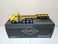 Kenworth T800W Rogers 4-Axle Flip Lowboy Yellow Sword 1:50 Model #SW3102-YY New!