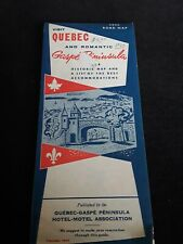 1959 Quebec Canadian Road Map