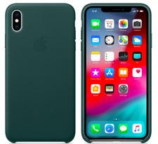Waldgrün Apple Echt Original Leder Schütz Hülle Case für iPhone XS Max (6.5)