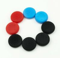 8 Pack Thumb Grips for Nintendo Switch Joy Con and Lite – 4 Black, 2 Red, 2 Blue