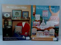 The Cat's Meow Village Pattern Book Booklet Perforated Paper Lot of 2 X XI