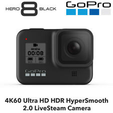 GoPro HERO8 Black - 4K60 Ultra HD HDR HyperSmooth 2.0 LiveSteam Camera BNIB