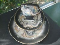 Vintage Sango China DragonWare Trio 3 Piece Tea Cup Saucer Luncheon Plate Japan