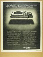 1977 Technics SL-1000 SL1000 MKII Turntable photo vintage print Ad