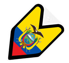 ## JDM DRIVER BADGE ECUADOR ECUADORIAN Car Decal Flag not vinyl sticker ##