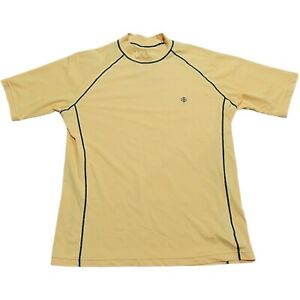 Coolibar Cooltect UPF 50+ Yellow Short Sleeve Mens Large Reflective