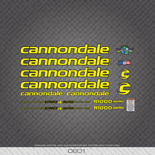 0601 Cannondale R1000 AERO Bicycle Frame Stickers - Decals - Transfers
