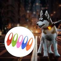 Anti-Bark Pet Dog Puppy LED Collar Safety Night Light Keyrings Pendant