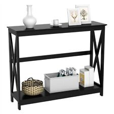 Modern Console Table Sofa Side Stand with Storage Shelf for Entryway Hall, Used