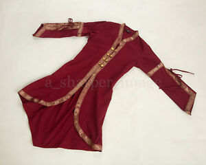 Renaissance SCA LARP Burgundy Cloak Over-Dress Medieval Cosplay One Size NEW
