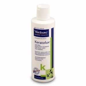 Keratolux Virbac Antiseborrheic Tar-Free Shampoo for Dog Cat and Horse 8 oz.
