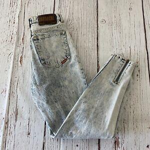 Vintage Jordache Women's High Waisted Acid Wash Jeans Size 11/12 26in Waist
