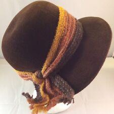 Vtg Brown Velvet Clouche Hat McCurdys Rochester New York